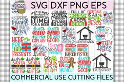 Giant Christmas Bundle of 58 SVG DXF PNG EPS Cutting Files Product Image 4