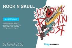Rock n Skull Vector Illustration Product Image 1