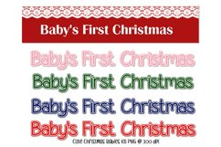 Baby's First Christmas Digital Scrapkit Product Image 6