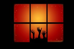 Zombie hands Silhouette Halloween Party decoration Product Image 2