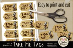 Alice in Wonderland Mad Hatter Take Me Printable Tags Product Image 3