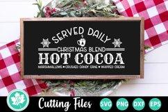 Christmas SVG | Christmas SVG Sign | Hot Cocoa SVG Product Image 1