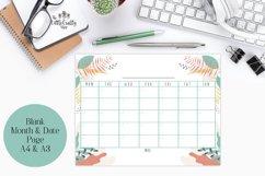 Monthly Calendar, Blank Calendar, Sunday start, Monday start Product Image 2