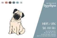 PUG Dog SVG / Mops SVG / Dogs love SVG Vector File Product Image 2