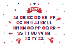 Captain of America Patriotic Display Font Product Image 4