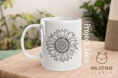 Sunflower Monograms svg, Sunflower mini bundle, Sunflower cl Product Image 6