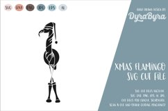 Flamingo Christmas SVG / Christmas SVG Product Image 1