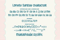 Lonely Sunday - Quirky Monoline Font Product Image 6