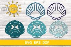 3D Layered Sea shell Mandala SVG 5 layers Product Image 3