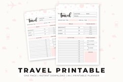 Travel Printable   Travel Planner   Travel Schedule Product Image 2