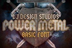 LJ Power metal Font Product Image 1