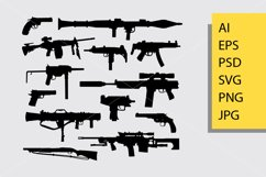 Gun weapon silhouette Product Image 1