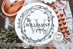 Monogram Wreath SVG | Farmhouse Sign SVG | dxf and more Product Image 1