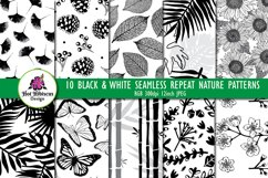 Black and White Seamless Repeat Nature Patterns Bundle Product Image 1