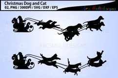 Christmas dog svg / Christmas cat svg / sleigh ride svg Product Image 1