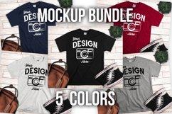 T shirt Mockup Bundle 5 Colors Styled T Shirt Display Product Image 1