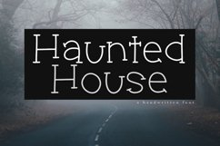 Haunted House - A Spooky Handwritten Font Product Image 1