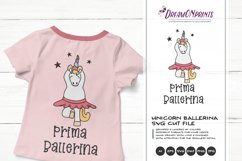 Prima Ballerina  Dancing Unicorn SVG Cut Files   Ballet Product Image 1