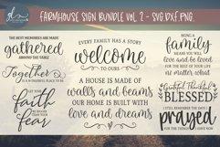 Farmhouse Sign Bundle Vol. 2 - SVG, DXF & PNG - 8 Designs Product Image 1