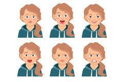 Little kid girl face expressions Product Image 1