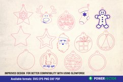 Christmas Ornaments Laser CNC Cutting Engraving Patterns Product Image 3