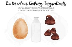 Baking Ingredients Watercolour Clipart Product Image 5