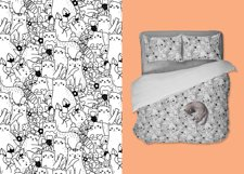 Funny Cats and Flowers clipart set Product Image 6