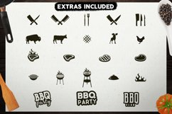 BBQ SVG Logos Bundle Grill Emblems Icons Set, Barbecue DXF Product Image 3