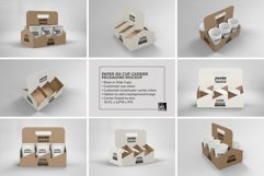 Paper Six Cup Carrier/Holder Packaging Mockup Product Image 2