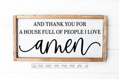 And Thank You For A House Full Of People I Love Amen - SVG Product Image 1