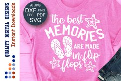 The best memories are made in flip flops svg Family shirts Product Image 1