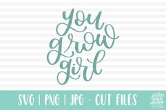 You Grow Girl, Spring Garden SVG Cut File Product Image 3