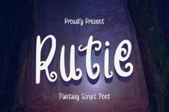Web Font Rutie Font Product Image 1