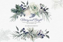 Christmas Watercolor Floral Clipart Collection Product Image 4