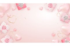 Valentine's Day Background Cards Design Product Image 5