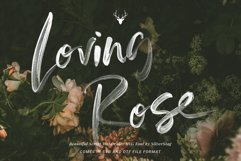 Loving Rose SVG Watercolor Font Pack - Hand Drawn Font Product Image 1