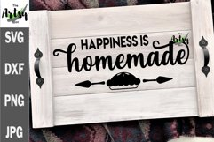 Happiness is Homemade, Noodle board svg, Noodle board decal Product Image 2