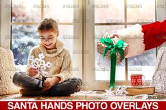 Christmas overlays Santa Claus Hand clipart png Photoshop Product Image 1