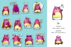 Cute Owls - sticker pack Product Image 2