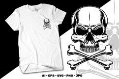 Skull and crossbones vector illustration Product Image 1