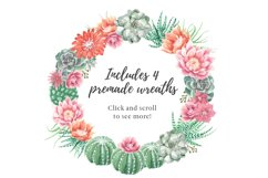 Watercolor Cactus and Succulents Collection Product Image 4