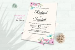 Wedding Invitation Set #12 Watercolor Floral Flower Style Product Image 2