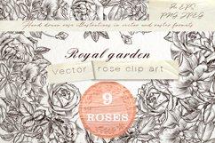 Royal garden, vector clipart set Product Image 1
