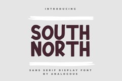 SOUTH NORTH || Display Font Product Image 1