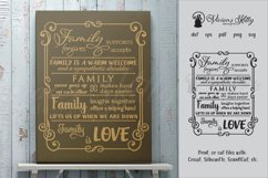 Family word collage in swirly frame, word collage Product Image 1