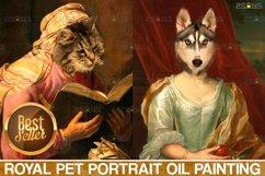 MEGA BUNDLE Royal Pet Portrait templates Digital pet Product Image 4