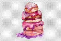 Dessert Appetizing Watercolor png Product Image 5
