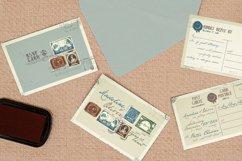 Vintage Stamp Wedding Invitation Product Image 3