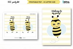 Bee themed party kit, kids party decor, bee first birthday Product Image 4