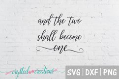 Two Shall Become One SVG, DXF, PNG Product Image 2